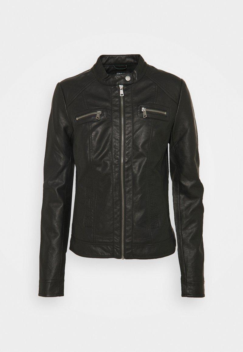ONLY Tall - ONLBANDIT BIKER - Faux leather jacket - black