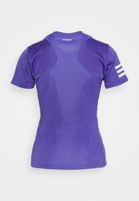 adidas Performance - CLUB TEE - T-shirt imprimé - purple/white - 1