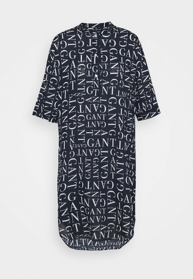 TYPOGRAPHY TUNIC - Blůza - evening blue