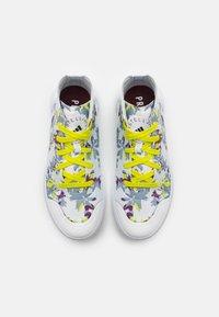 adidas by Stella McCartney - ASMC TREINO MID PRINTED - Sports shoes - footwear white/core black/acid yellow - 3