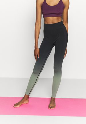 GRADIENT HIGH WAIST - Leggings - black