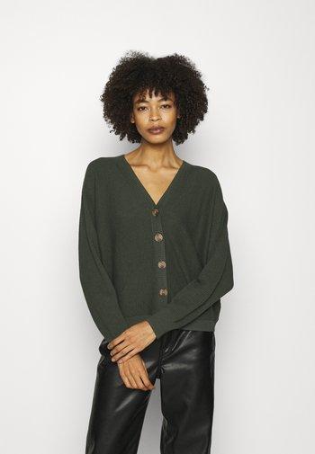 CORE CARDIGAN - Cardigan - khaki green