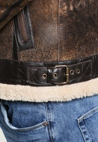 Goosecraft - LAMMY - Leather jacket - brown - 5