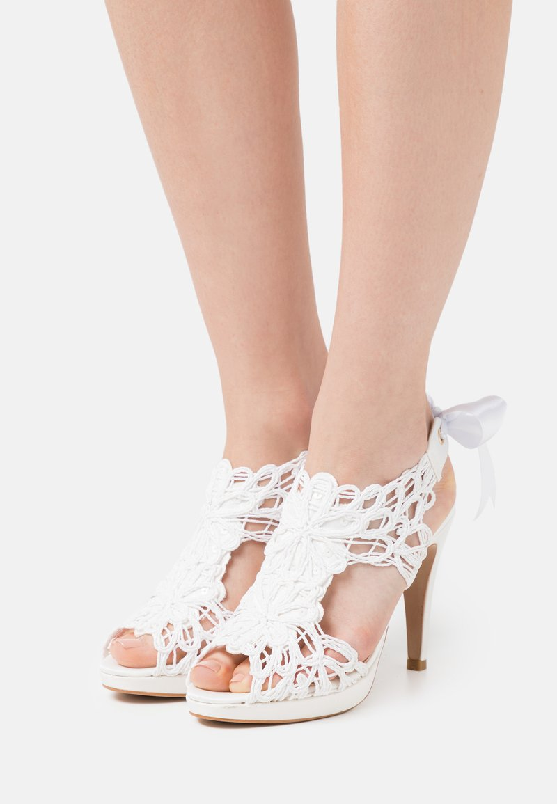 LAB BY AG - Sandalen met plateauzool - nupcial