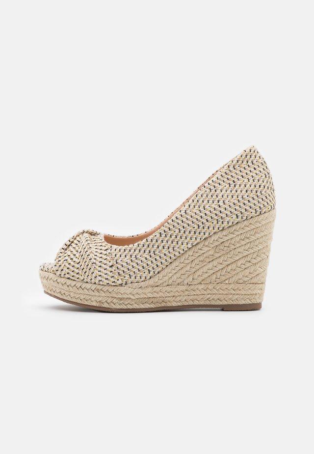 WHIRL - Peeptoe heels - beige
