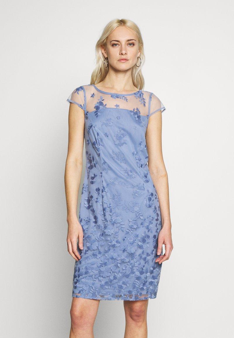 Esprit Collection - DEGRADÉ FLORAL - Cocktailkleid/festliches Kleid - blue lavender