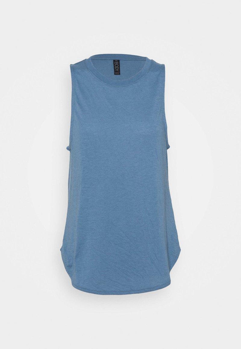 Cotton On Body - ACTIVE CURVE HEM TANK - Top - copen blue