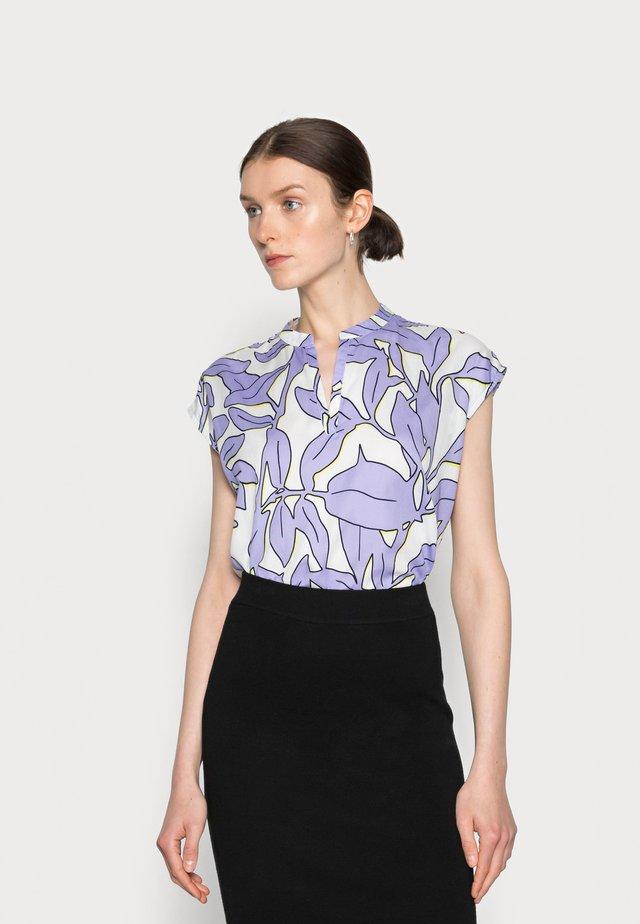 T-shirt med print - white/lavender