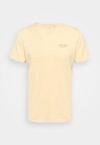 KURZARM - T-shirt - bas - yellow melange