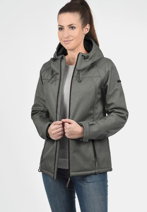 SOLEY - Soft shell jacket - grey melange