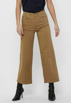 WIDE FIT - Trousers - toasted coconut