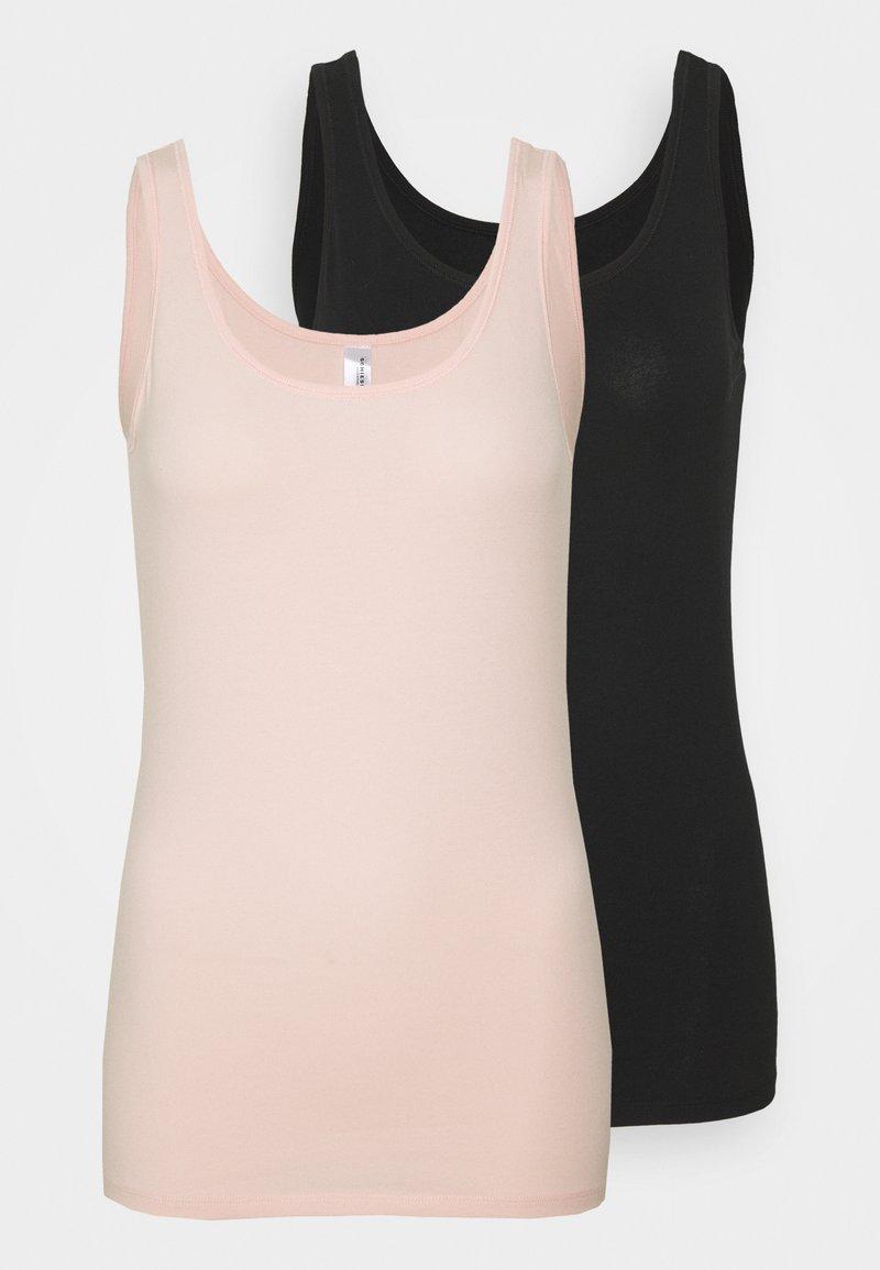 Schiesser - 2 PACK - Undershirt - black