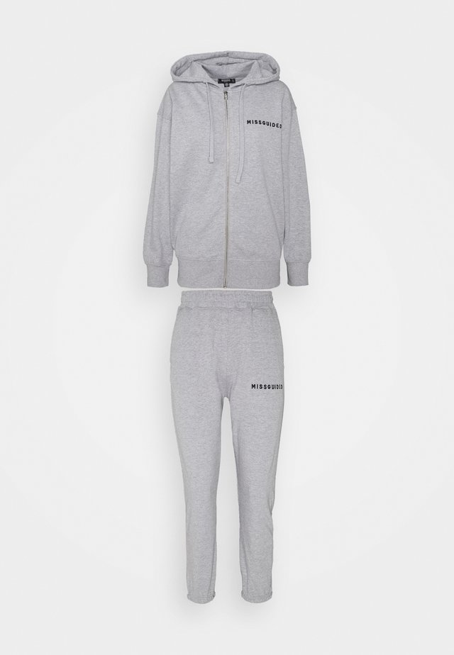 HOODIE AND JOGGER SET - Collegetakki - grey