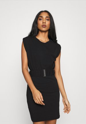 ONLLIVE LOVE LIFE BELT DRESS - Denní šaty - black