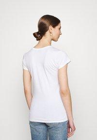 G-Star - EYBEN SLIM 2 PACK - Basic T-shirt - sartho blue/white - 2