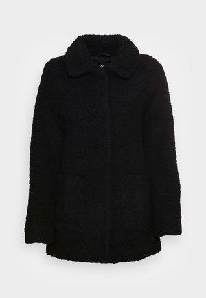 ONLAURELIA SHERPA JACKET - Short coat - black