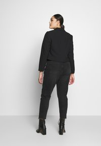 Simply Be - ESSENTIAL FASHION NEW CROPPED STYLE COLLAR - Sportovní sako - black - 2