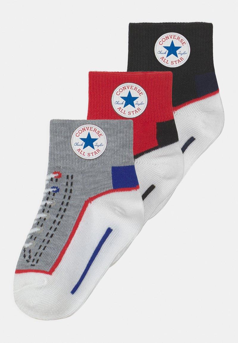 Converse - CHUCK QUARTER 3 PACK UNISEX  - Socks - enamel red