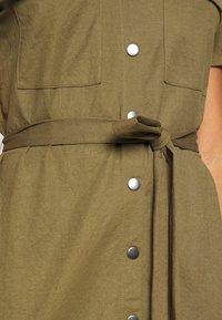Vila - Košilové šaty - dark olive - 5