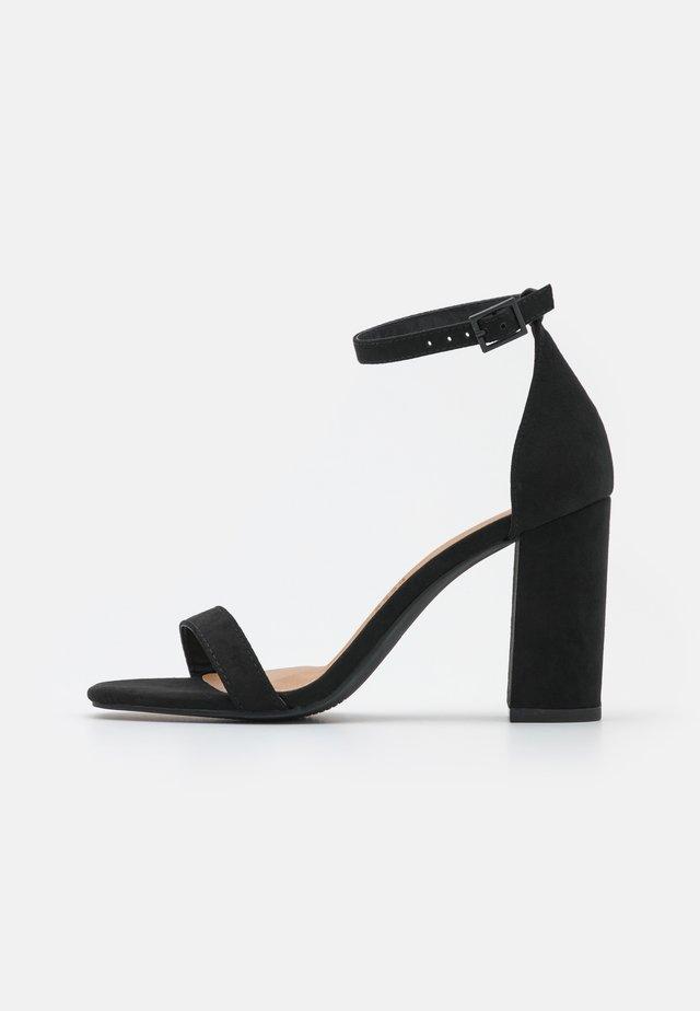 SAN SQUARE TOE - Sandalen - black