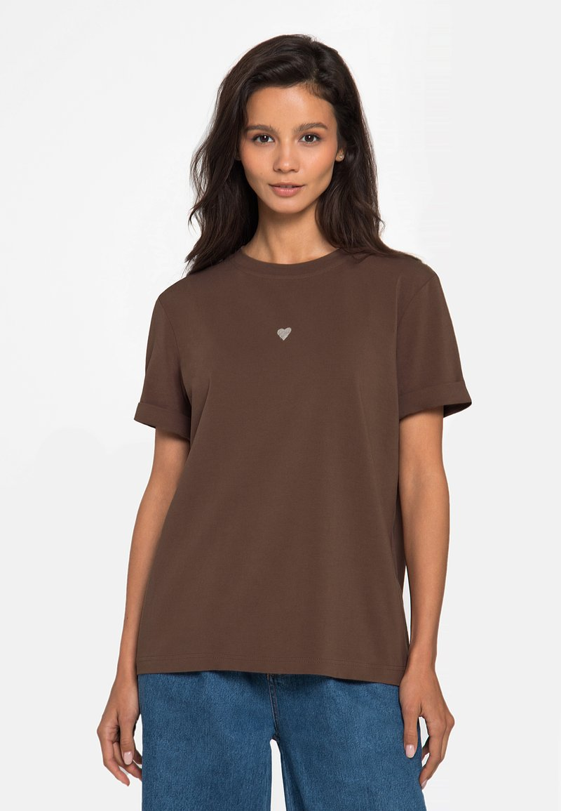 Lichi - Basic T-shirt - coffee