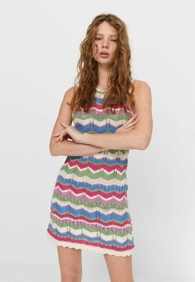 Pletené šaty - multi coloured