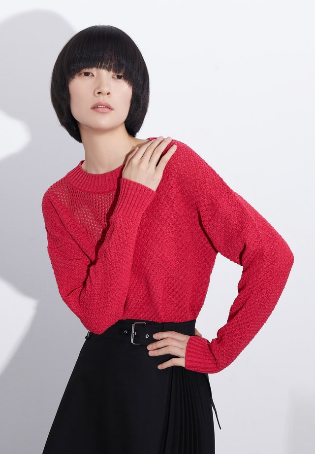 Pullover - plum red