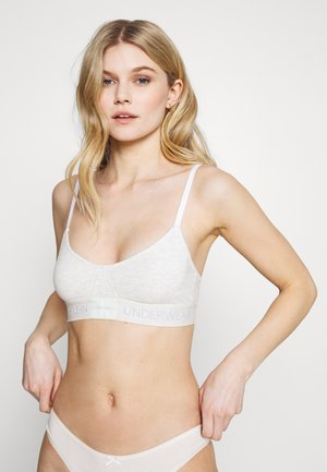 MONOGRAM UNLINED TRIANGLE - Bustier - snow heather