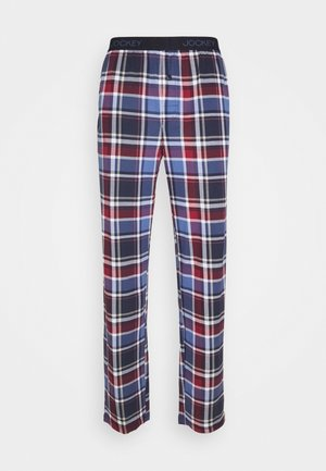 PANTS - Pyjama bottoms - blue/red