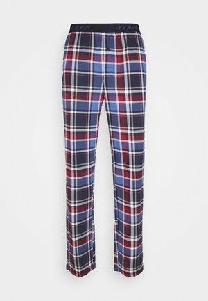 PANTS - Pyjamasbukse - blue/red
