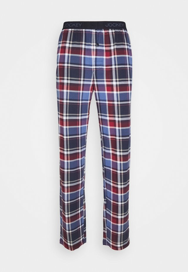 PANTS - Pyjamasbukse - blue/red