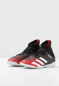adidas Performance - PREDATOR 20.3 IN - Indoor football boots - core black/footwear white/active red - 3