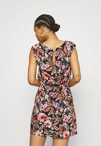 LASCANA - BEACH DRESS - Day dress - schwarz/apricot - 2
