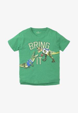 T-shirt print - kids holly green