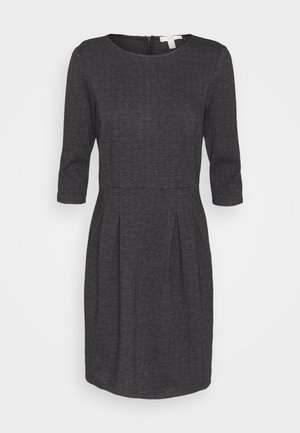 JAQUARD DRESS - Jersey dress - anthracite