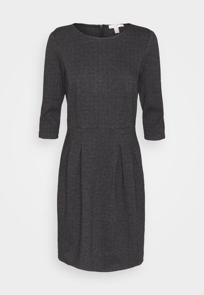 Esprit - JAQUARD DRESS - Jersey dress - anthracite
