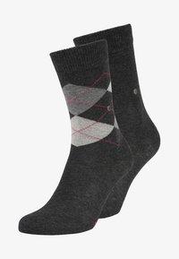 Burlington - 2 PACK - Socken - anthracite melange - 0