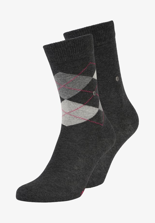 EVERYDAY MIX 2 PACK - Socks - anthracite melange