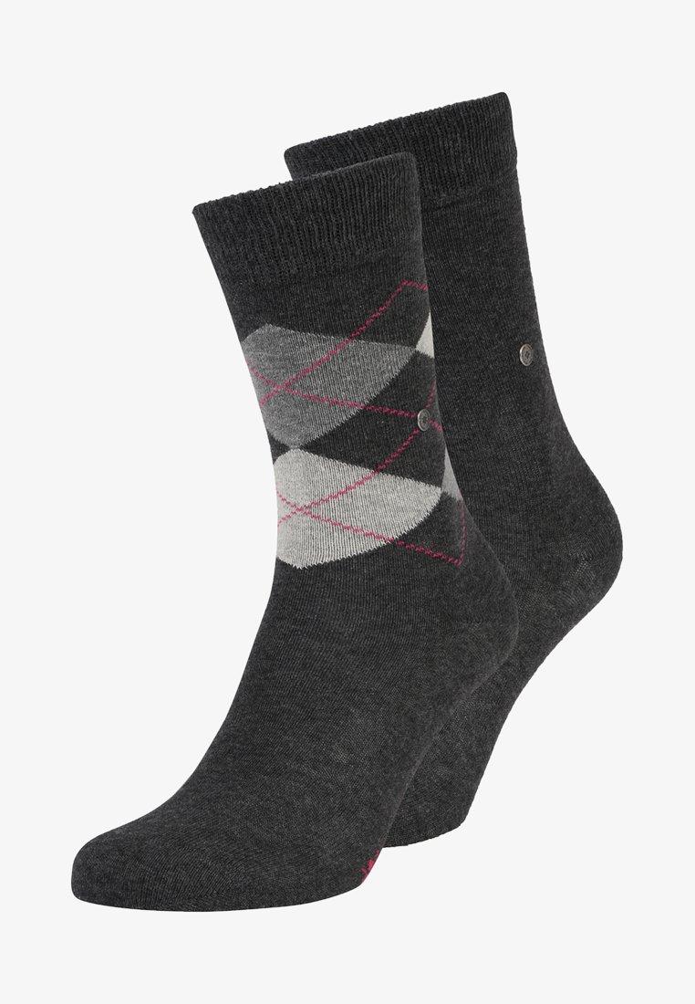 Burlington - 2 PACK - Socken - anthracite melange