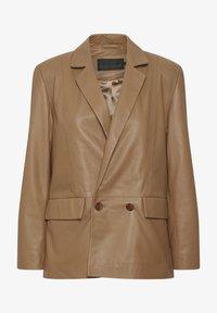Karen by Simonsen - Leather jacket - tobacco brown - 5
