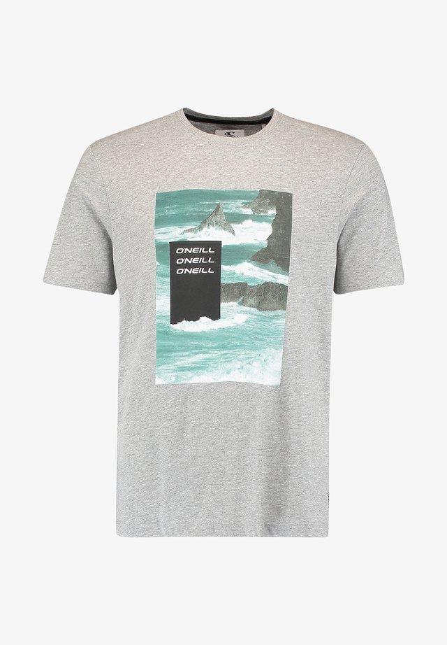CALI OCEAN - Print T-shirt - silver melee