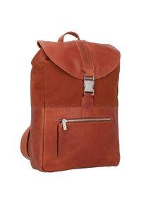 Cowboysbag - BACK TO SCHOOL NOVA RUCKSACK 38 CM LAPTOPFACH - Sac bandoulière - cognac - 2