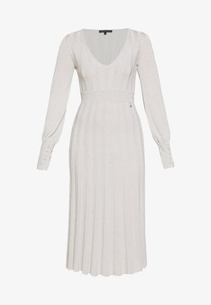 ABITO DRESS - Pletené šaty - statue white lurex
