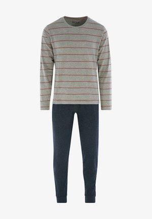 HERREN  - Pyjama -  grey/dark blue