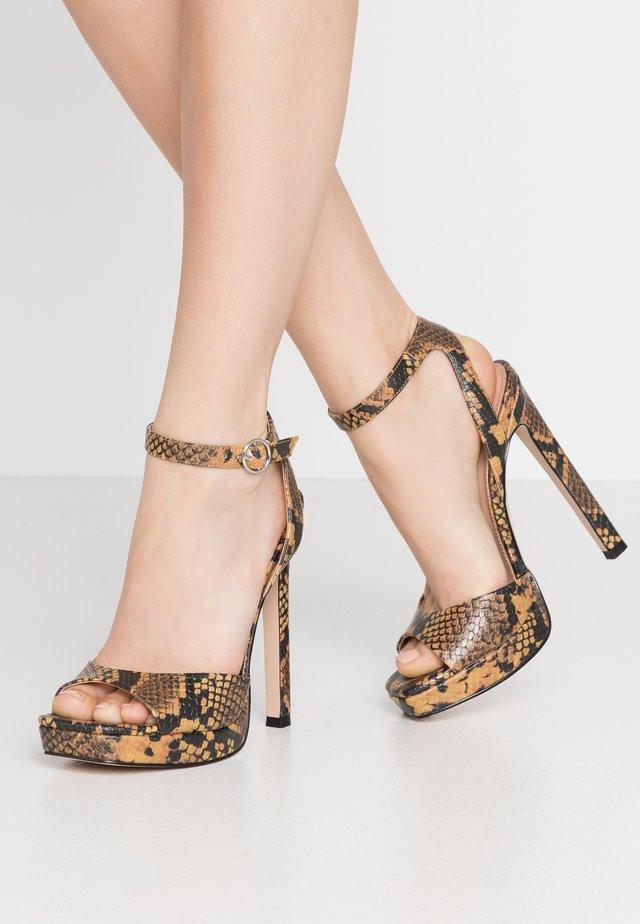 LUV - Korolliset sandaalit - yellow