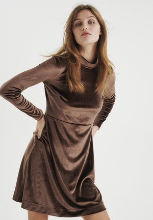 ORIELIW  - Jersey dress - copper