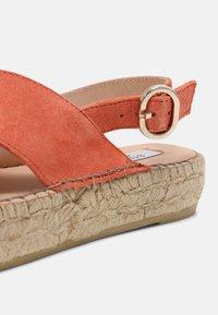 Steven New York - MARLIE - Platform sandals - coral suede - 7
