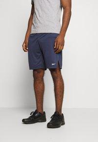 Reebok - SHORT - Pantalón corto de deporte - dark blue - 0