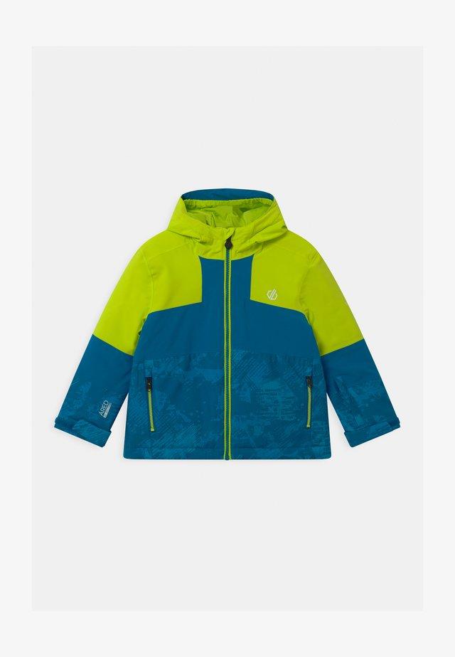 CAVALIER UNISEX - Snowboard jacket - lime/petrol