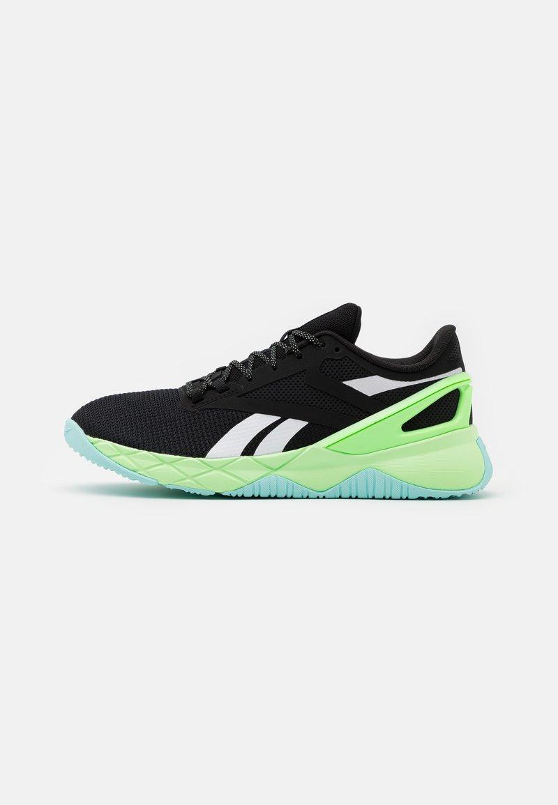 Reebok - NANOFLEX TR - Sports shoes - core black/neon mint